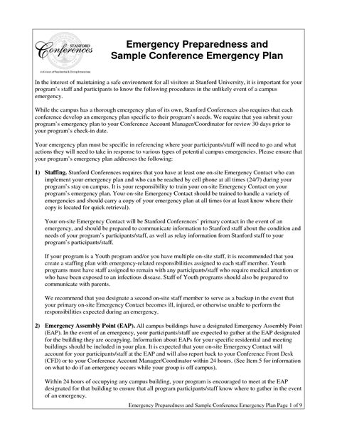 daycare emergency preparedness plan template best photos of emergency preparedness policy sle