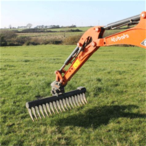 Landscape Rake Mini Digger Mini Digger Hire From Fencing And Decking