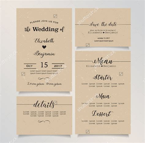 Wedding Invitation Menu Cards by 15 Wedding Menu Card Designs Design Trends Premium