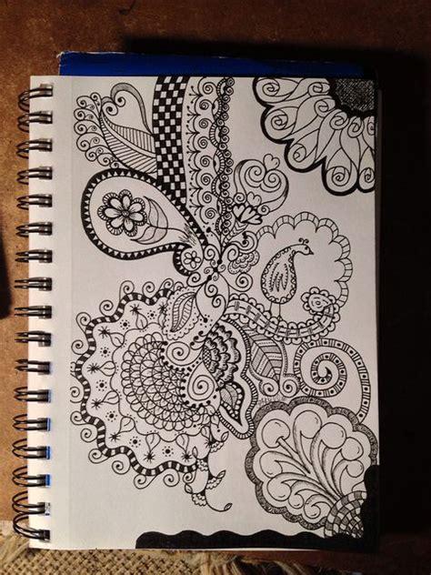 doodle imagine draw notebook zendoodle zen work zentangle drawings