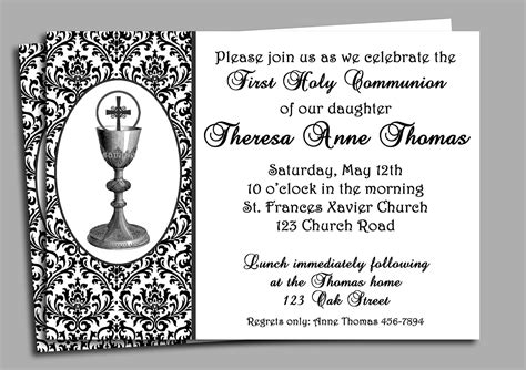 holy communion invitations templates holy communion invitation printable or printed with free