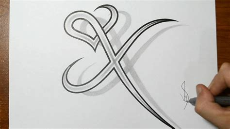 x tattoo ideas heart tattoo designs with letters www pixshark com