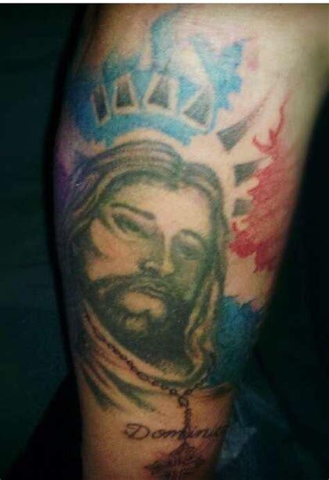 dominican flag tattoo pride
