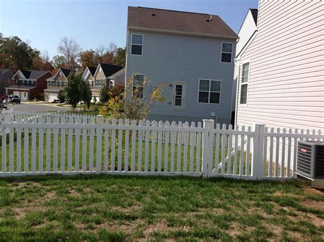 picket fence nashville fence and deck vinyl fence company vinyl fence contractor pg county