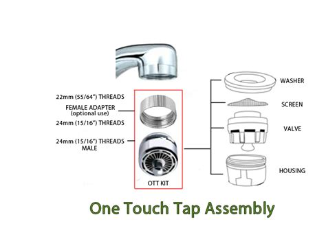 kitchen faucet assembly sink aerator faucet for saving water water saver