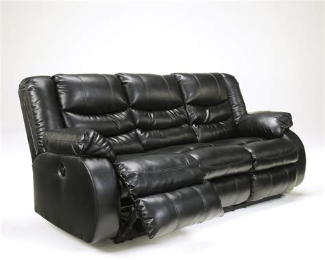 black and white leather reclining sofa black leather reclining sofa by furniture