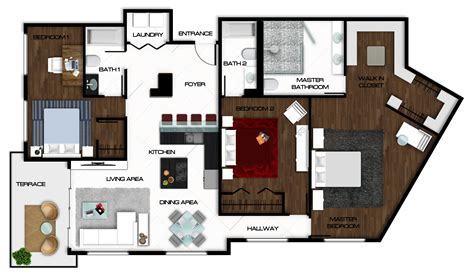 rendered floor plans autocad floor plan rendered in photoshop rendered floor