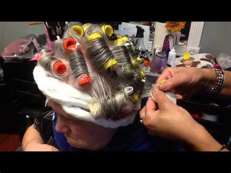 men roller set roller set perm tutorial youtube