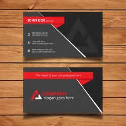 red and grey modern business card template vector free