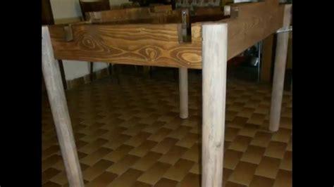 come fare un tavolo allungabile creare un tavolo allungabile con aste dei bancali di