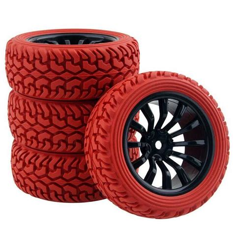 Rc 110 Car On Road Racing Flat Wheel Tyre Tires Fit Hsp Hpi 9058 110 scale replacement road flat running soft tyre tire 4