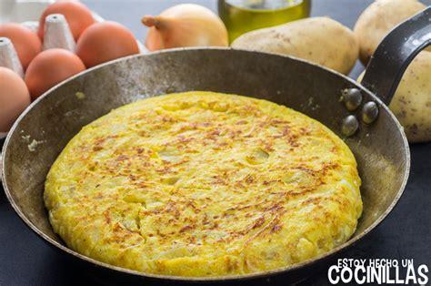 recetas de cocina tortilla de patatas tortilla de patatas con cebolla