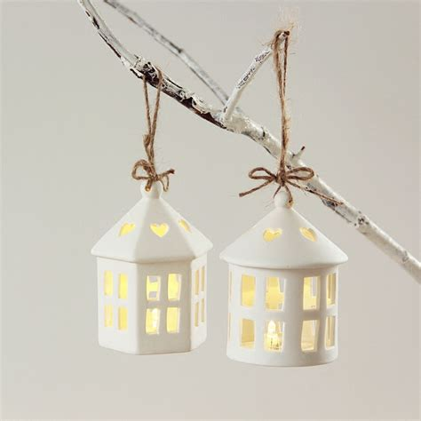 where can i buy white house christmas ornaments new cabin ceramic small hanging lantern white house candle holders christmas ornaments