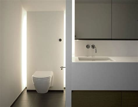 beleuchtung wc badkamers met indirecte verlichting woonmooi