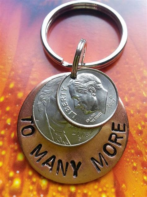 gifts for a 15 year 15 year anniversary lucky in keyring copper