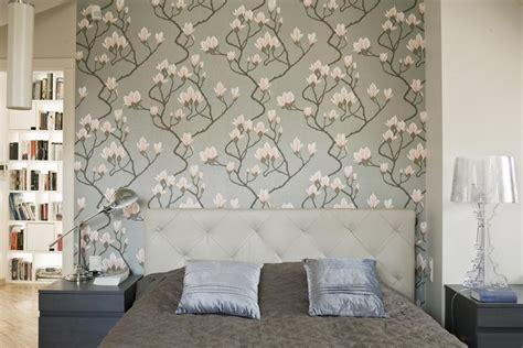 sypialnia  tapeta inspirowana natura inspiracja