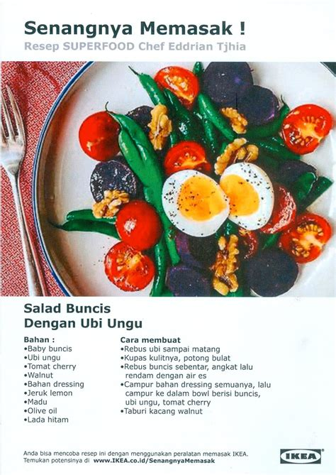 resep makanan sehat  ikea