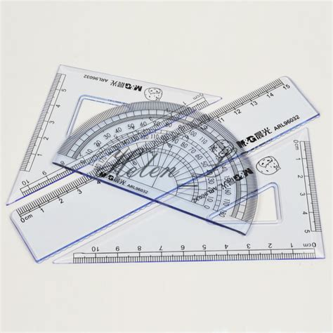 printable geometric ruler 4 piece suit ruler learning stationery 15 cm ruler