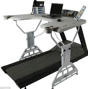 Treadmill Computer Desk Are You Sitting Study Finds Treadmill Desks Don T Help You Lose Weight Daily Mail