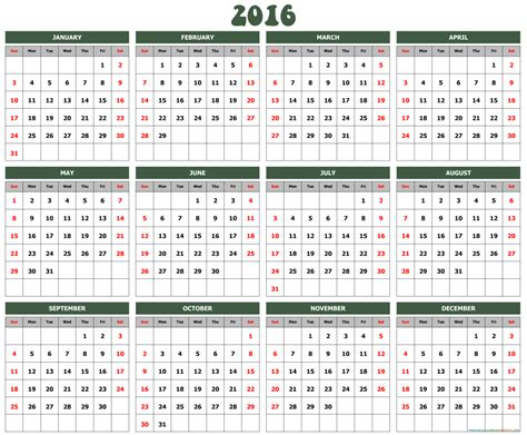 printable calendar with holidays 2016 yearly calendar archives free printable calendar