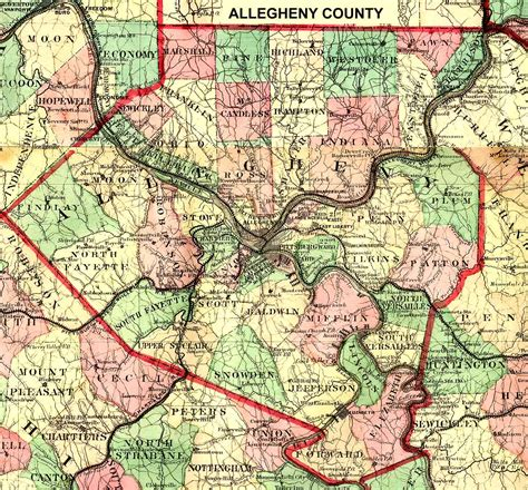 Search Allegheny County Pa Pennsylvania County Usgs Maps