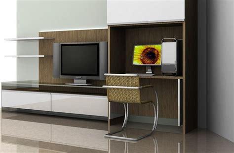 desain meja tv lcd desain model rak tv minimalis modern murah