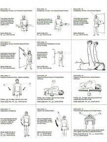 Rotator cuff exercise regiment handout fitness pinterest