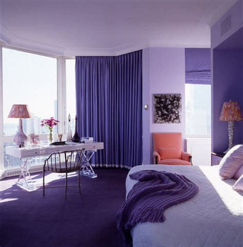 purple bedroom design ideas for with purple curtain and floor best home gallery