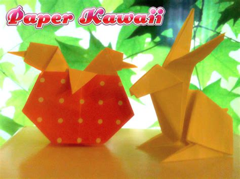 Origami Easter Egg - easter origami bunny in egg paper kawaii
