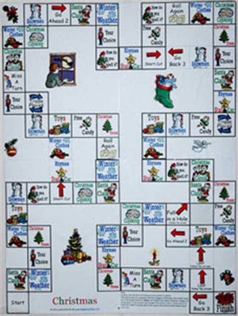 free printable winter board games christmas worksheets for kids and esl teachers
