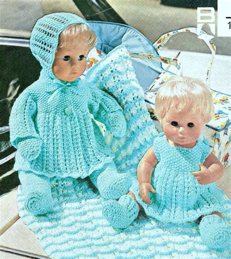 knitted doll clothes patterns free baby dolls clothes 12 16 quot knitting pattern layette