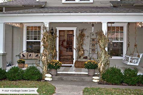 house porch designs our vintage home fall porch ideas