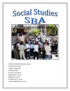 csec social studies sample sba