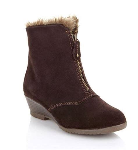 sporto waterproof winter suede convertible wedge ankle