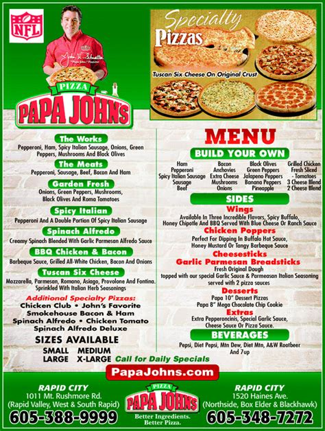 papa s pizza rapid city sd 57701 yellowbook