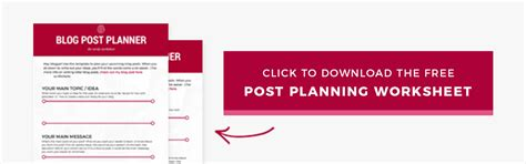 blog post planner free template to turn ideas into reality