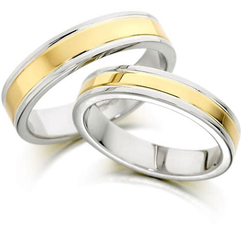 Wedding Bands Two by Jewelry Collection Two Tone Wedding Bands