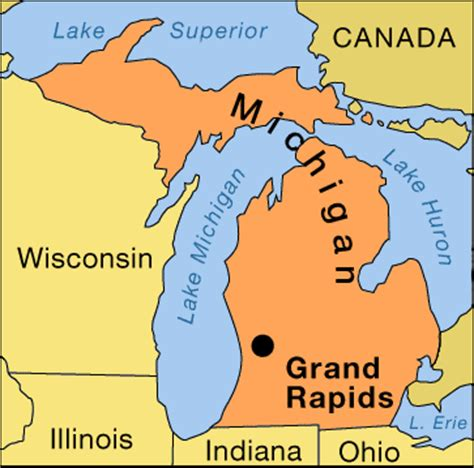 grand on map where it is located grand rapids location encyclopedia children s
