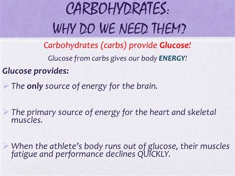 carbohydrates do what carbs what s the pointe ppt