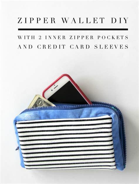 tutorial wallet fabric zipper wallet diy pistols wallets and patterns