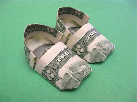 Origami Baby Booties - details about beautiful money origami pieces many