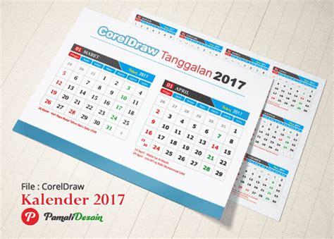 Kalender Dinding Besar Warna 2017 template kalender indonesia vektor