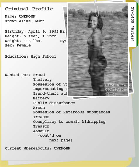 The Of A Criminal Record Pager Criminal Record Id By Eryca1435 On Deviantart