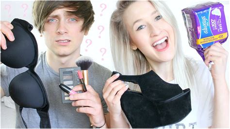 boyfriend gets a feminine hairstyle guy guesses prices of girly items sophie louise youtube