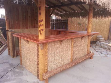 redwood bar top custom built palapa with hand made redwood bar top yelp