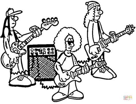 Dibujo De Ensayo Una Banda Rock Para Colorear  Dibujos sketch template