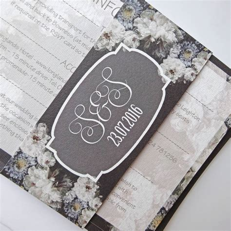 Contemporary Wedding Stationery by Monochrome Contemporary Wedding Stationery By Claryce