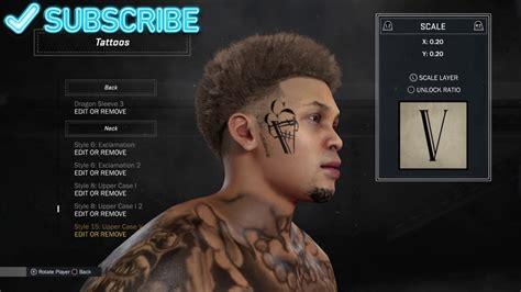 gucci face tattoo nba 2k17 myplayer creation gucci mane