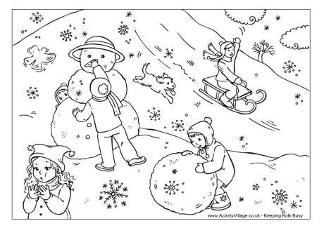 snow village coloring page snow day colouring page