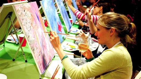 paint nite york events paint nite at axis alley newport on the levee
